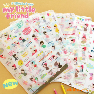 Office & School Supplies 6 Pcs/lot Cartoon Little Gift Mobile Phone Accessories Red Hat Girl Sticker Cute Girls Kawaii Diy Diary Sticker For Child