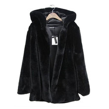 CHAMSGEND новое зимнее пальто женское теплое пальто из искусственного меха размера плюс женская однотонная куртка с капюшоном зимнее пальто с длинным рукавом Куртка No8