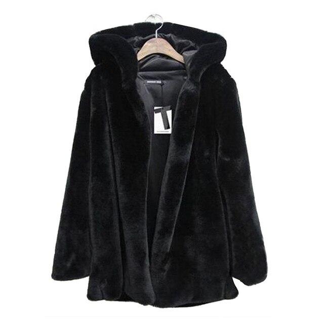 d95ef4c5d0e5d CHAMSGEND 2018 nuevo abrigo de invierno cálido abrigo de piel sintética  Mujer Plus la talla de