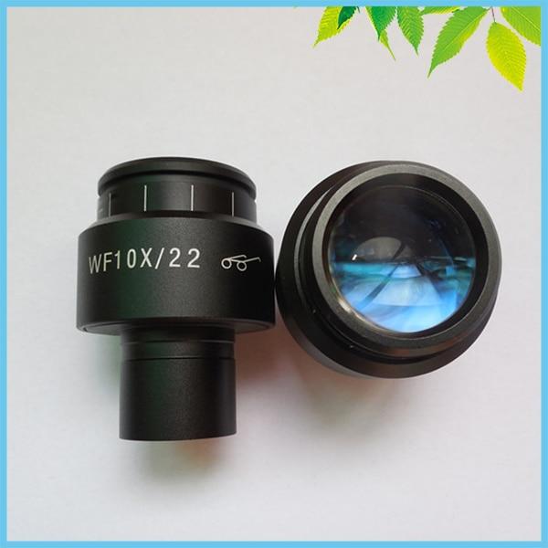 ФОТО 1 PC WF10X/22mm Adjustable High Eye Pionts Wide Field Eyepiece Optical Lens for Biological Microscope