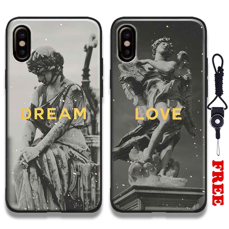 Plaster statue Sculpture Art Quotes Coque Tpu Soft Silicone Phone Case Cover Shell For Apple iPhone 5 5s Se 6 6s 7 8 Plus X