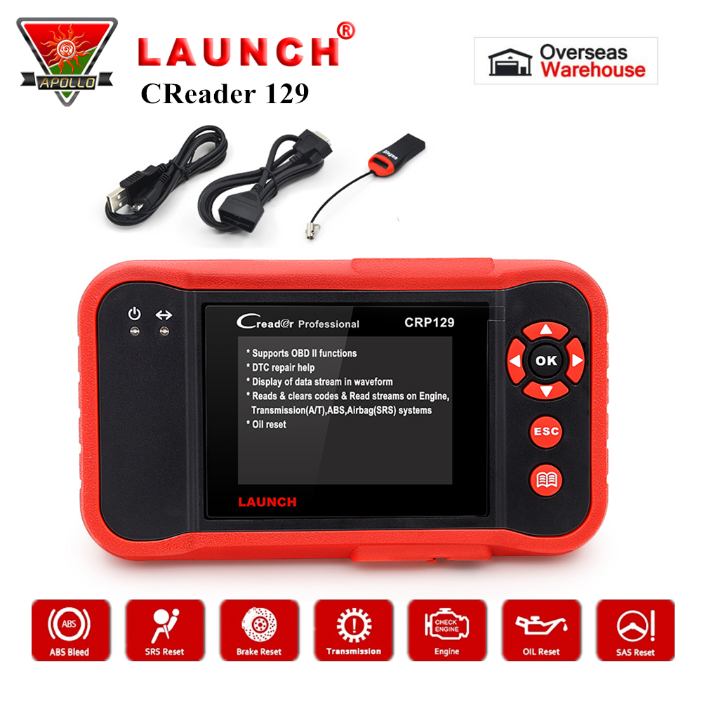 Launch CRP129 OBD2 Code Reader X431 Creader 129 Auto Car Scanner Diagnostic Tool OBDII Scanner Free Update pk Creader VIII NT614