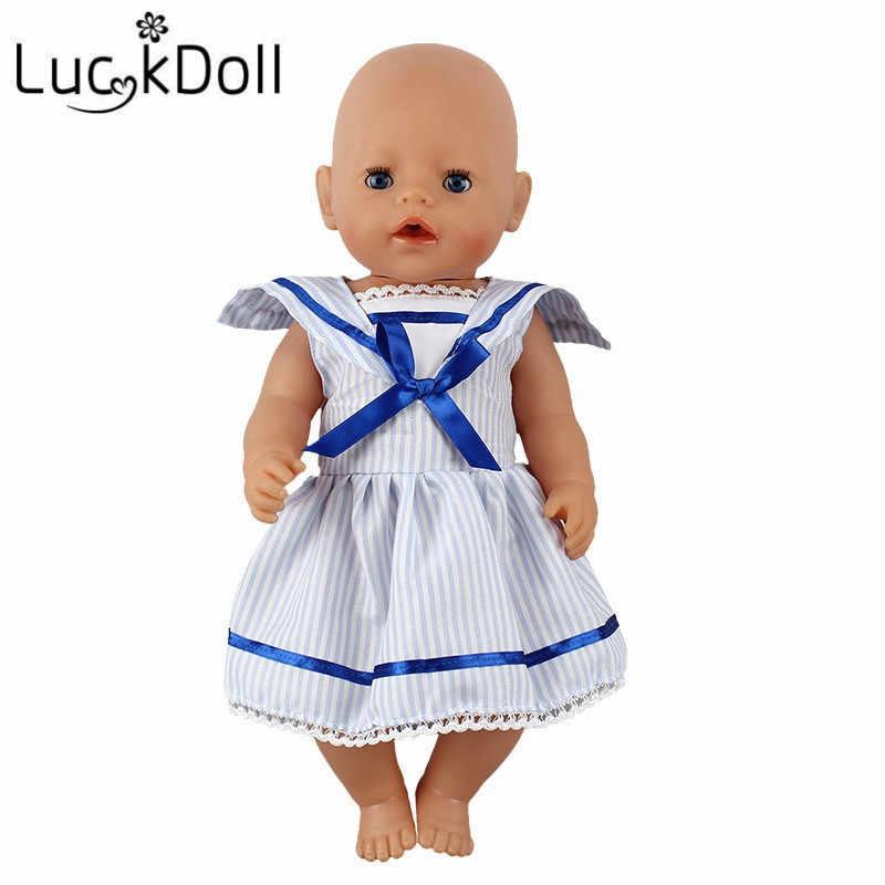 LUCKDOLL Cinco Estilos A-line Vestido Fit 18 Polegada Americano 43 centímetros Boneca Roupas Acessórios, Brinquedos de Meninas, geração, Presente de Aniversário