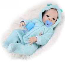 Full silicone vinyl reborn baby doll toys, play house reborn girl boy babies kids child brithday Christmas gift girls Juguetes