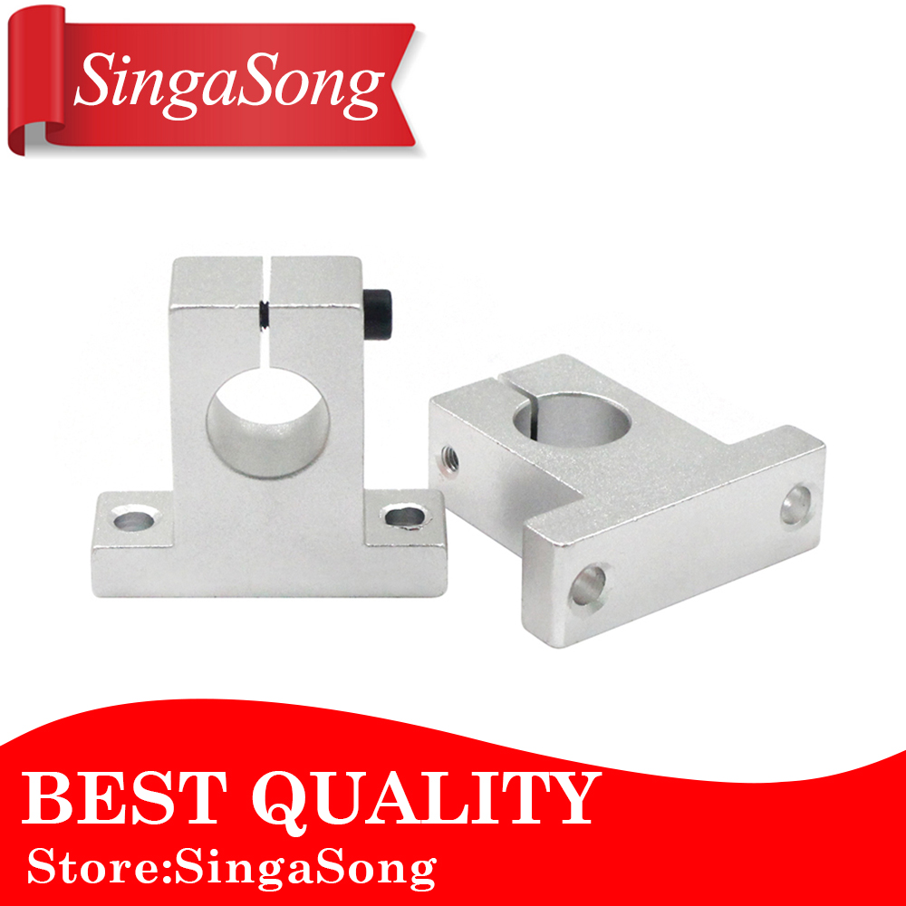 4PCS SK12 SH12A 12mm linear rail shaft support block for cnc linear slide bearing guide cnc parts