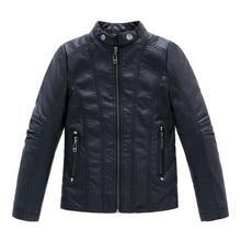 Infant leather jacket Jaqueta de couro infantil Infant overcoat font b Boys b font font b