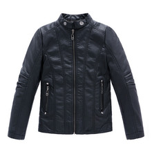 Infant leather jacket Jaqueta de couro infantil Infant overcoat Boys outerwear Sobretudo infantil Thickening PU casacos Kids