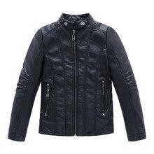 Infant leather jacket PU Jaqueta de couro infantil Infant overcoat Boys Kids leather jacket Sobretudo infantil