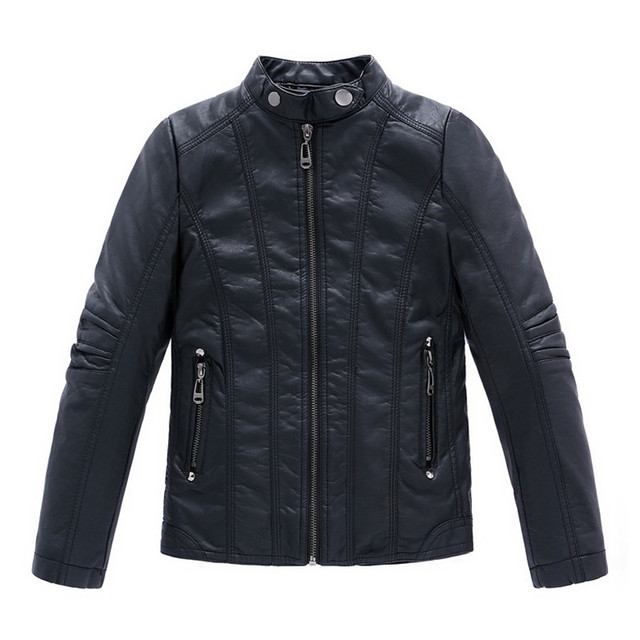 Infant leather jacket PU Jaqueta de couro infantil Infant overcoat Boys Kids leather jacket Sobretudo infantil casacos Kids