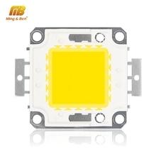 Chip de contas de led, 10w 20w 30w 50w 100w de alto brilho 22 24/30 32v branco quente frio diy para holofote luz de fluxo precisa motorista