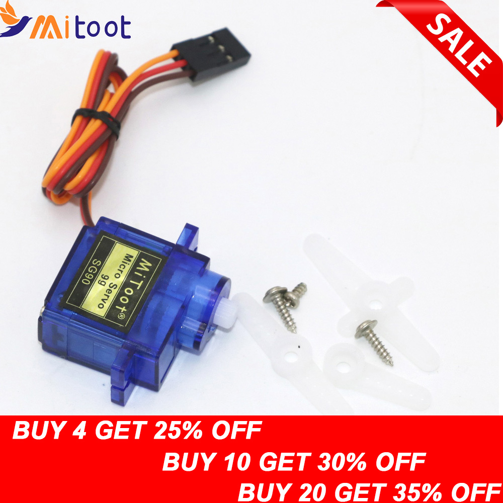1pcs Mitoot RC Micro Servo 9g SG90 Servo For Arduino Aeromodelismo Align Trex 450 Airplane Helicopters Accessories(China)