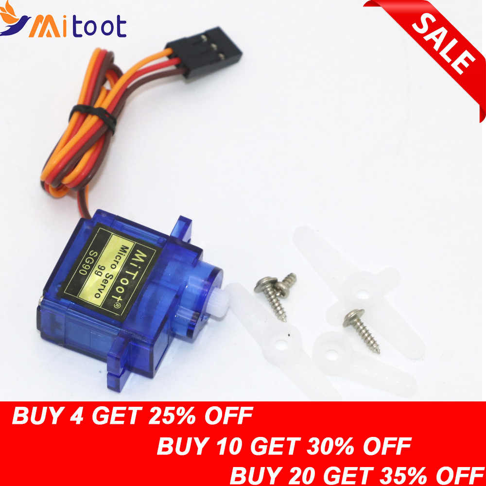 1pcs Mitoot RC Micro Servo 9g SG90 Servo Voor Arduino Aeromodelismo Align Trex 450 Vliegtuig Helikopters Accessoires