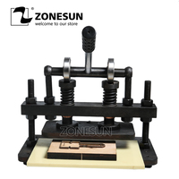 ZONESUN 26x12cm Double Wheel Hand Leather Cutting Machine Photo Paper PVC/EVA Sheet Mold Cutter leather Die cutting