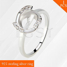 LGSY nice Wheel design multiple size 925 sterling silver ring accessory with fine luster, fit for 7-8mm pearls