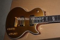 Hardcase Top quality earth inlay The artist signature L Supreme Gold TOP Electric Guitar with Golden Hardware in stock