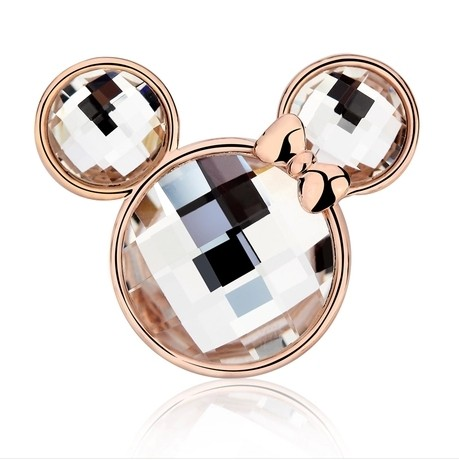 Free shipping minnie mouse cosplay brooch on dress rhinestone girl gift