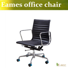 U-BEST emes office replica executive chair,Emes Office Chair Aluminum Group Style Reproduction Ribbed White Leather chair