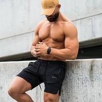 Hommes Gymnases Fitness Musculation Coton Shorts 2018 Nouvelle Mode Casual Solide Pantalon Court Masculin Jogger Entraînement pantalons de Survêtement Gros