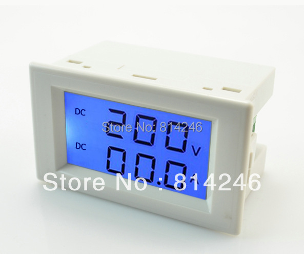 Free shipping,,Digital DC199.9V,10A   voltmeter DC ammeter digital LCD DC voltage ammeter