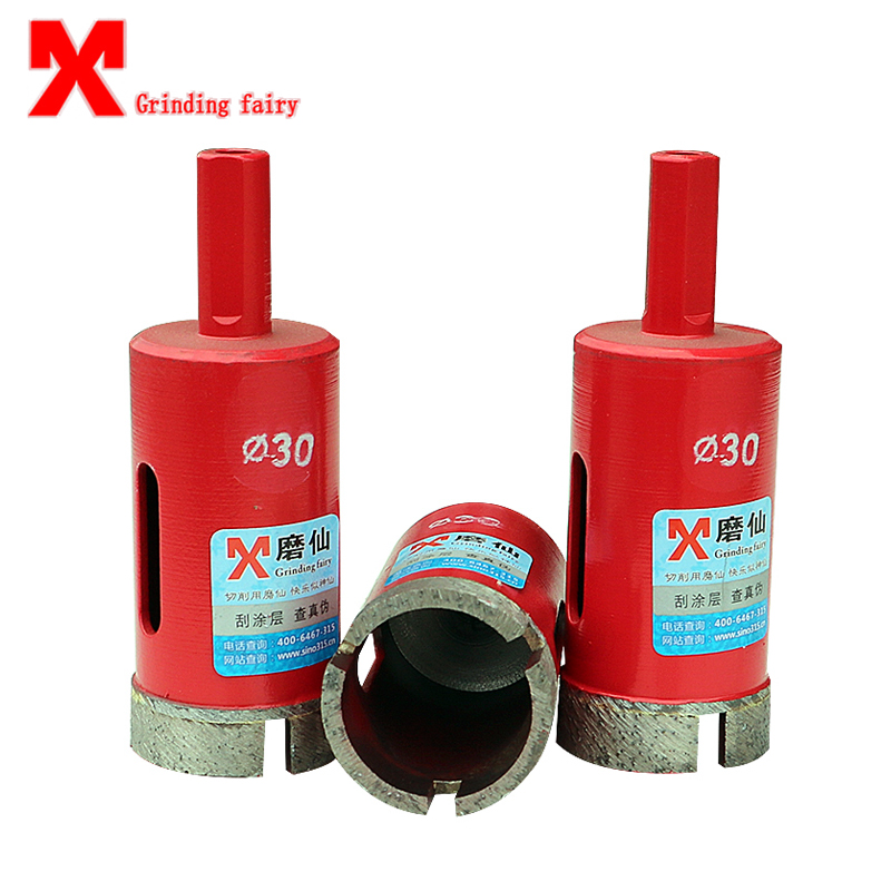 MX  Marble Opener Diamond Core Bit Hole Saw Drill Bit For Marble Granite Brick Tile Ceramic 1PC Concrete Drilling square shank concrete stone wall hole saw drill bit 40mm