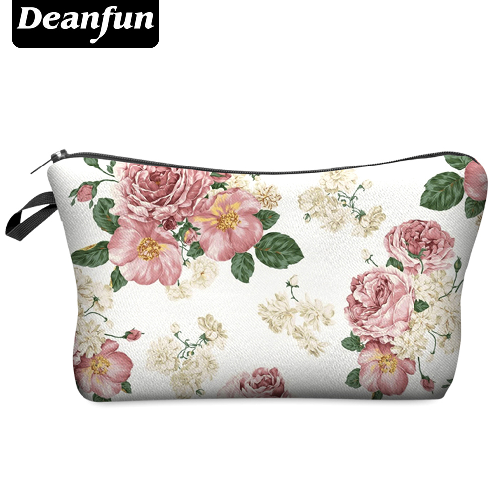 Deanfun 2016 3D Printing Small Cosmetic Bag Women Fashion Brand H37 deanfun travel cosmetic bag 2016 hot selling women brand small makeup case 3d printing christmas gift water pig h46