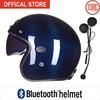 Bluetooth Carbon Fiber Motorcycle HelmetConnect Phone Support Call Vespa Motorbike Motocross Jet Retro Capacete Inner Visor