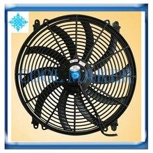 Авто кондиционер воздуха двигатель конденсатора вентилятор 16 дюймов 120 W 12 V/24 V дует/всасывания