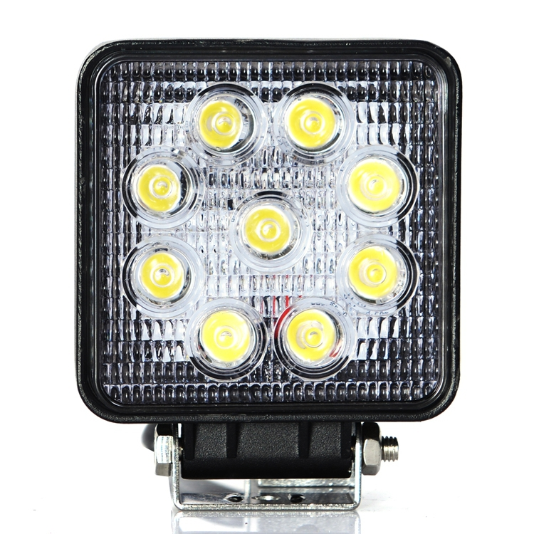 ФОТО Car Styling 27w Construction Vehicle Lights Automotivo Agricultural Vehicles Assist Lamp LED Motorcycle Lights 4800Lm  LED Light