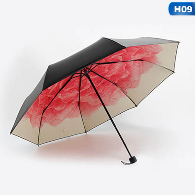 Summer Folding Rainy Umbrella Anti Uv Rainproof Umbrellas Sun