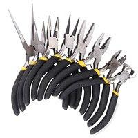 Drillpro 8Pcs/Set Jewelry Pliers Needle Round Bent Nose Beading Making DIY Craft Tool Kit High Quality