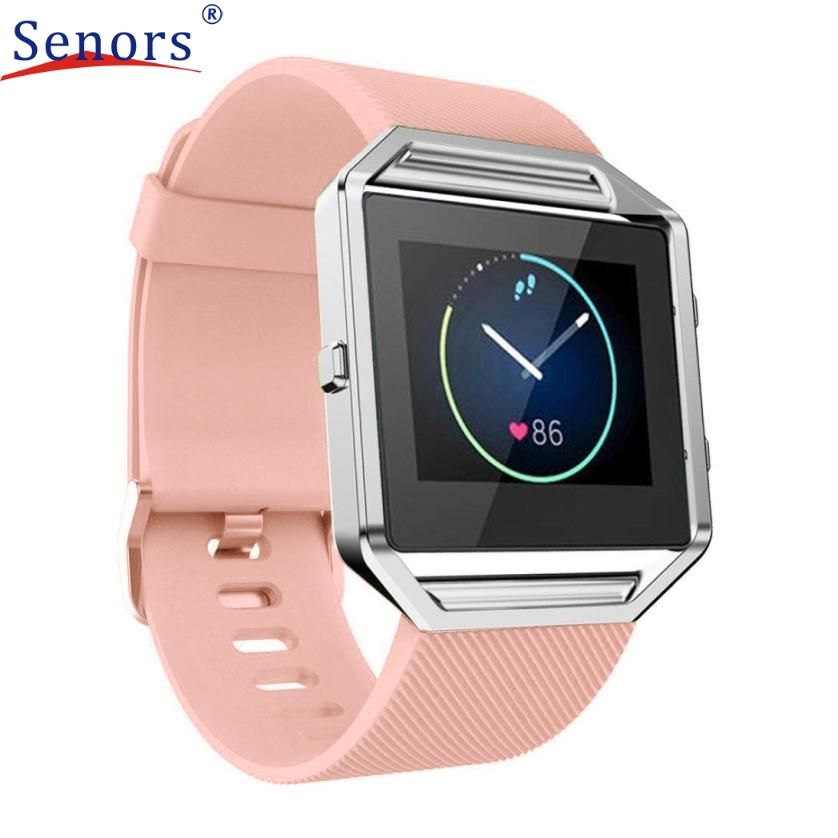 Superior Soft Silicone Watch band Wrist strap For Fitbit Blaze Smart Watch J6272 eache silicone watch band strap replacement watch band can fit for swatch 17mm 19mm men women