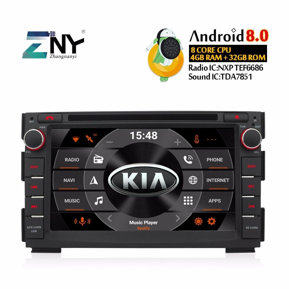 Android 8,0 автомобильный DVD Мультимедиа Стерео для Kia Ceed 2009 2012 Venga 7 ips дисплей Авто Радио 2 Din gps навигации Видео головного устройства