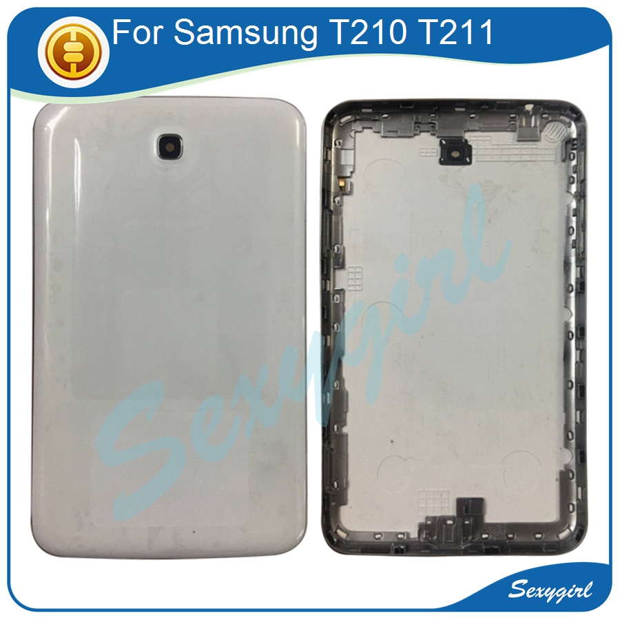 For Samsung Galaxy SM-T210 SM-T211 T210 T217 Back Battery Cover Rear Door Housing Case Replacement Parts White/Black +Tools