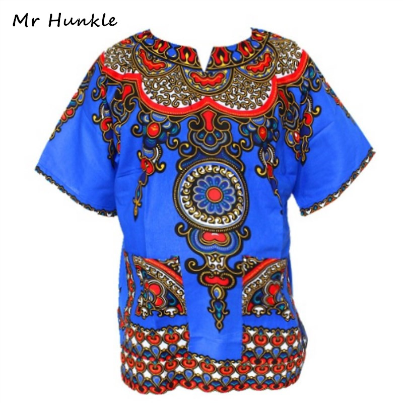 Mr Hunkle Dashiki Top Shirt Women Vintage T-shirt Traditional African Print Bodycon Shirts Robe Femme Loose T-shirt For Unisex