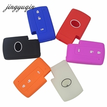 Jingyuqin Silicone Case Cover Fit Voor Toyota Prius Crown Avensis Verso Remote Smart Key Fob 3 Knoppen