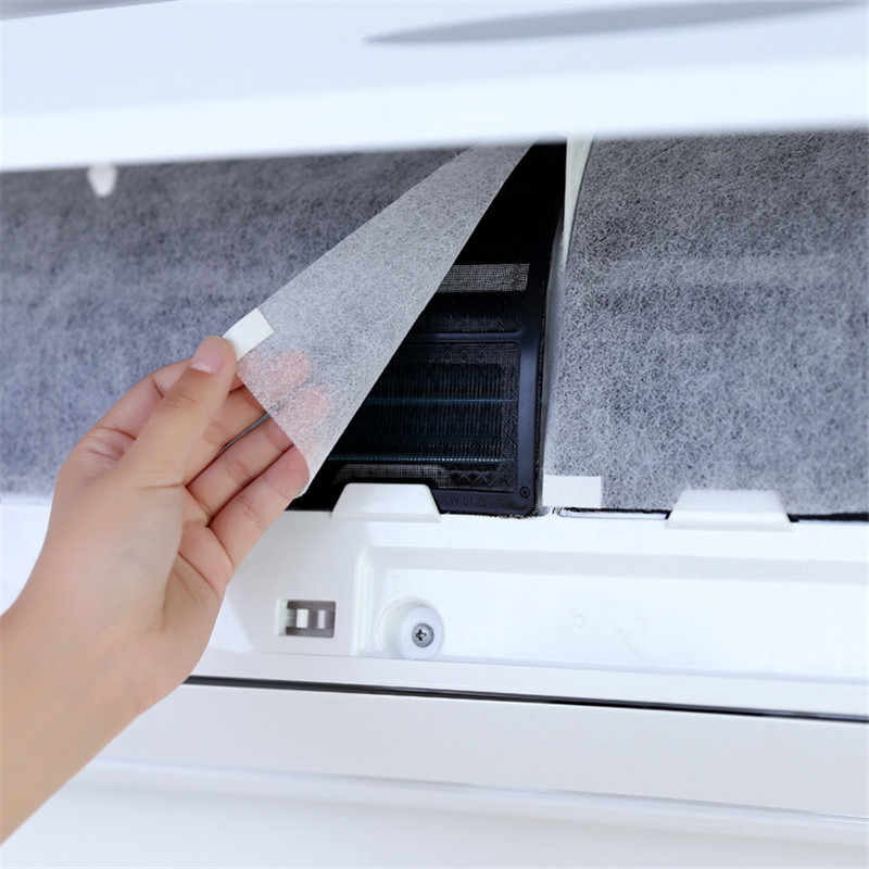 10Pcs Cuttable Air conditioner Filter Papers Anti-dust Net Cleaning Purification Air Conditioner Parts air purifier dust filter