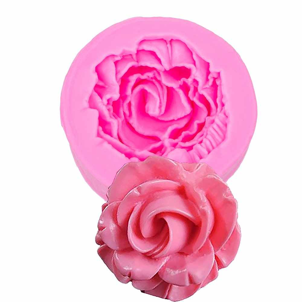 Flower Cutting Dies 3D Craft Relief Fondant Chocolate silicone Mold Cake Decorating kitchen pastry used molding tools FT-0998