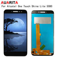 LCD For Alcatel One Touch Shine Lite 5080 5080D OT5080 5080X 5080A LCD Display touch panel Screen front glass Digiziter Assembly
