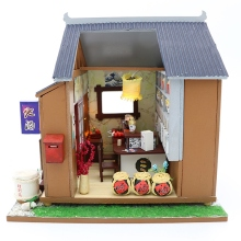Diy Doll House Wooden Houses Miniature Dollhouse Furniture Kit Toys for Children Christmas Gift