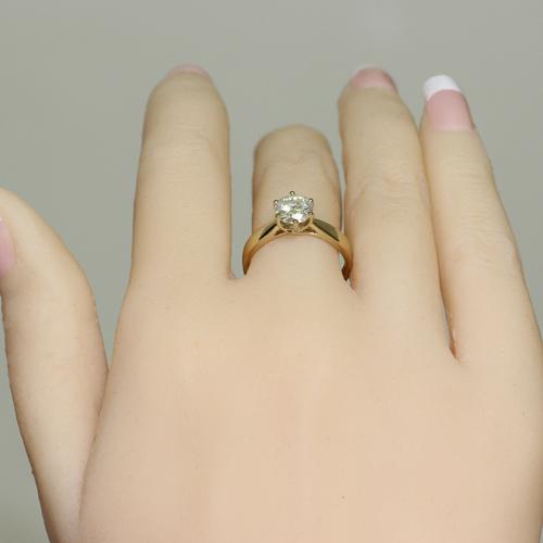 0.5CT Lab Grown Moissanite Diamond 14K 585 Yellow Gold Ring