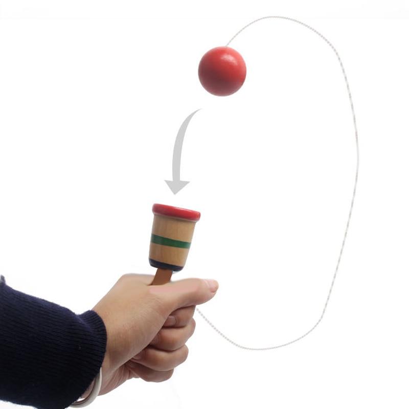 새로운 나무 튀는 공 성인을위한 야외 장난감 어린이위한 어린이 장난감 장난감 공 장난감 저글링 레저 스포츠 재미있는 장난감