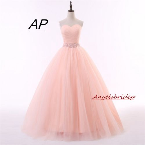 ANGELSBRIDEP Ball Gowns Vestidos De 15 Anos Quinceanera Dress 2019 Sexy Pink Tulle Floor length Simple