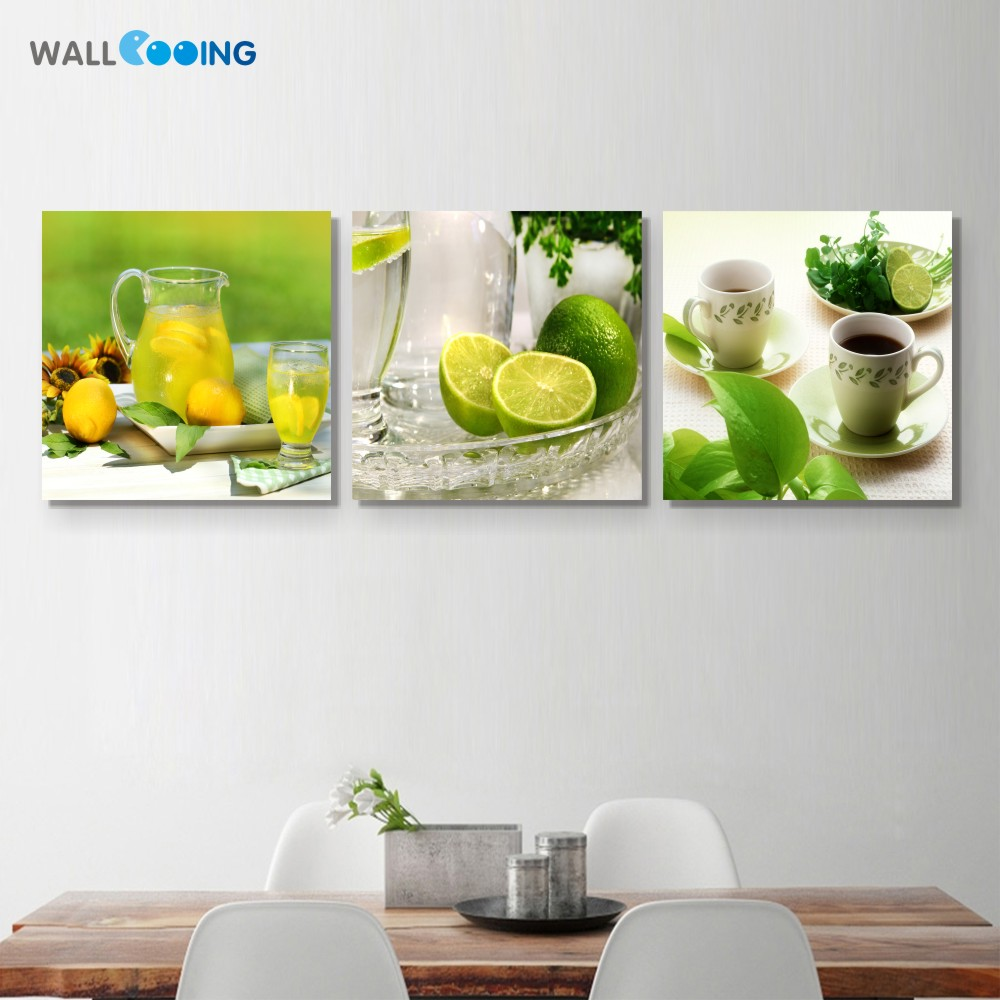 ∞New canvas decorative painting wall art painting green fruit Fruit ...