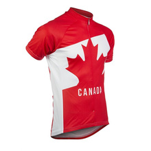 2016 New Arrival Pro Team Cycling Jersey Ropa Ciclismo Canada Mens Red Breathable Short Sleeve Clothing Summer Shirt