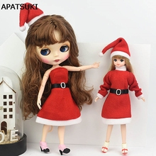 Outfit Doll-Dress Blythe Shoes Merry-Christmas Handmade High-Heels Barbie Accessories