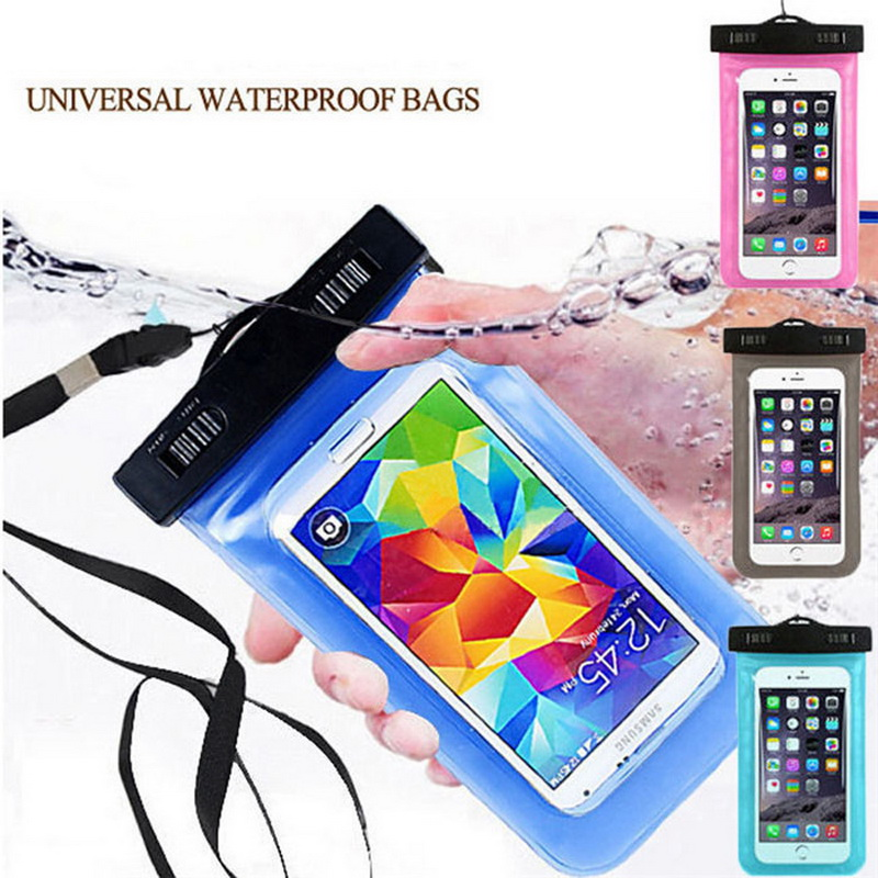 2017 Waterproof Beach Boating Fishing Pouch Cover Case for iPhone X 8 7 5S 6S under 5.5 inch Cell phones Back Coque Capa image