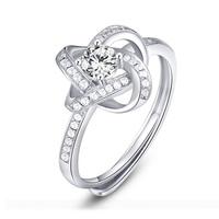 Winding Retro Mosaic opening rings s925 standard silver marry Engagement gifts 2019 news