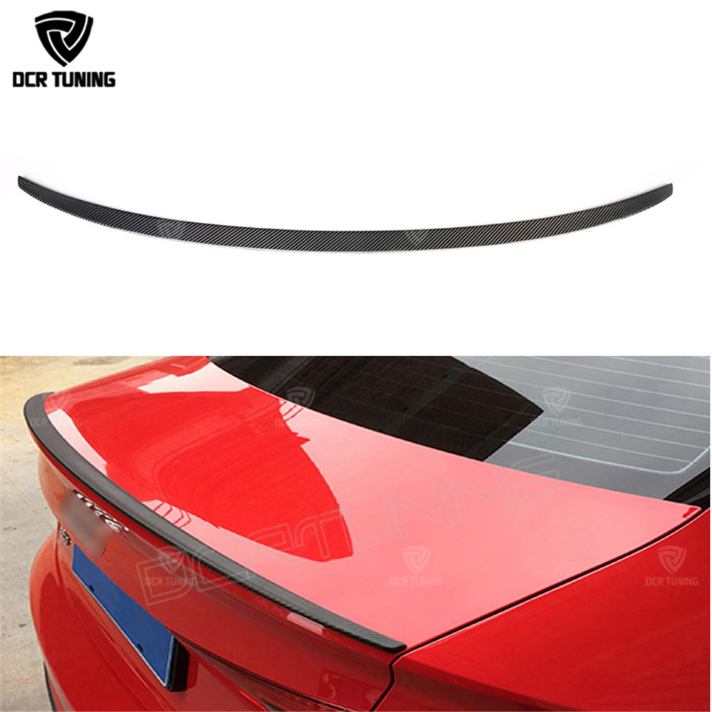 S3 Style carbon spoiler For Audi A3 Spoiler 2014 2015 2016 - UP for A3 8V Carbon wings Rear Trunk Boot Spoiler Lids for a3 8v for audi a3 high quality abs material car rear wing primer color audi a3 hatchback rear spoiler for audi a3 spoiler 2014 2017
