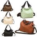 New Fashion Lady PU Leather Handbag Splice grafting Vintage Messenger Bags
