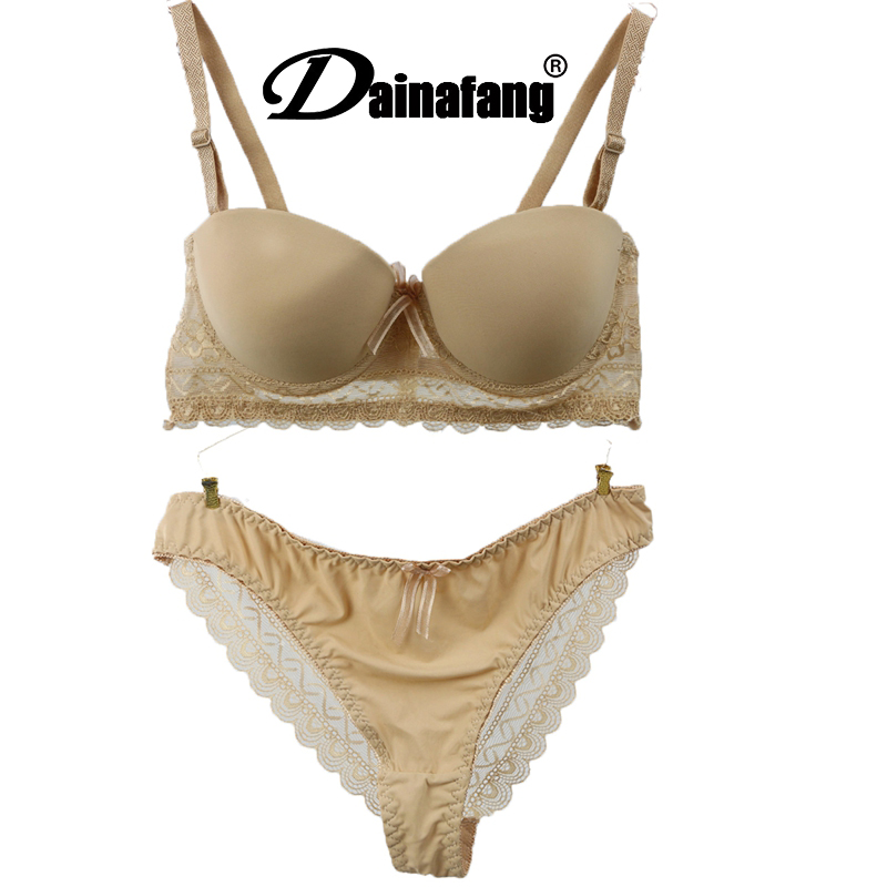 Bra & Brief Sets Sexy Demi Bra Set Push Up Slip Wedding Underwear Set French Sexy Lace Bra Set Womens Underwear Set Secret Lingerie Vs070# Good Companions For Children As Well As Adults Women's Intimates